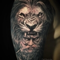 HERCULE & LION _ TATTOO BY CYRIL PERRIOLLAT