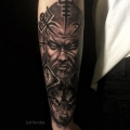 WOLF & VIKING  _ TATTOO BY CYRIL PERRIOLLAT