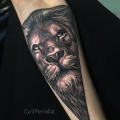 TRIANGLE LION _ TATTOO BY CYRIL PERRIOLLAT
