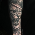ANGRY LION  _ TATTOO BY CYRIL PERRIOLLAT
