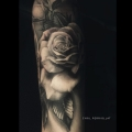 ROSE _ TATTOO BY CYRIL PERRIOLLAT