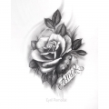 ROSE_TATTOO_DRAWING_BY_CYRIL_PERRIOLLAT
