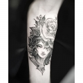 WOMAN_AND_ROSE_TATTOO_BY_MR_YOH